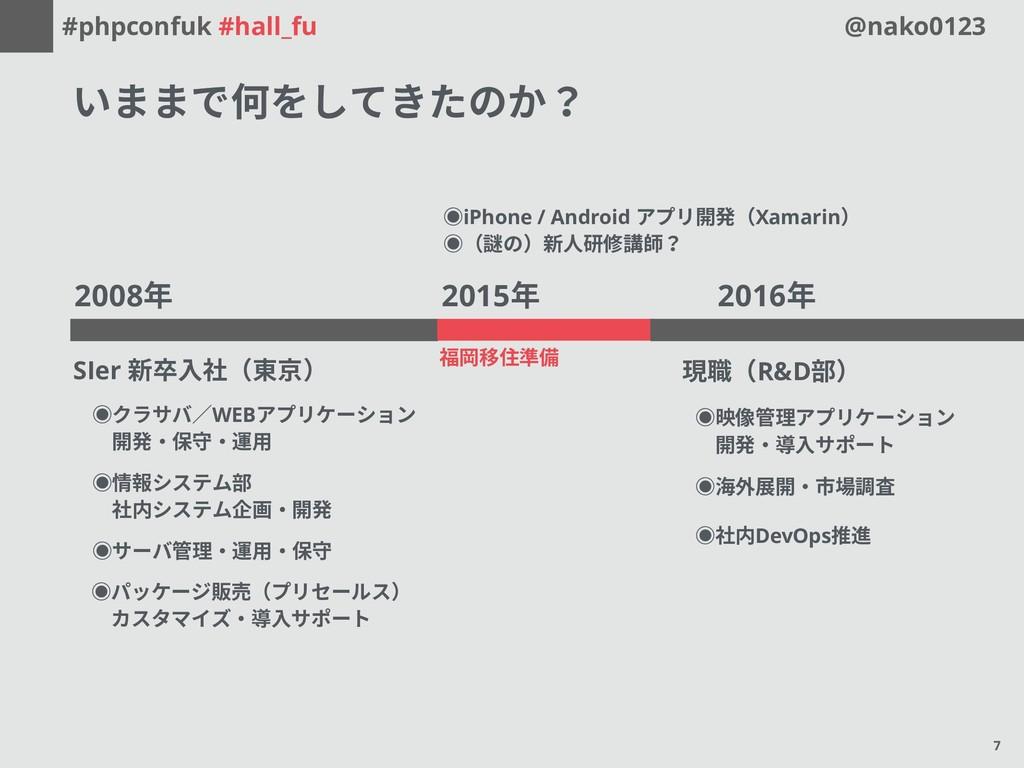 #phpconfuk #hall_fu @nako0123 2015年 福岡移住準備 2016...