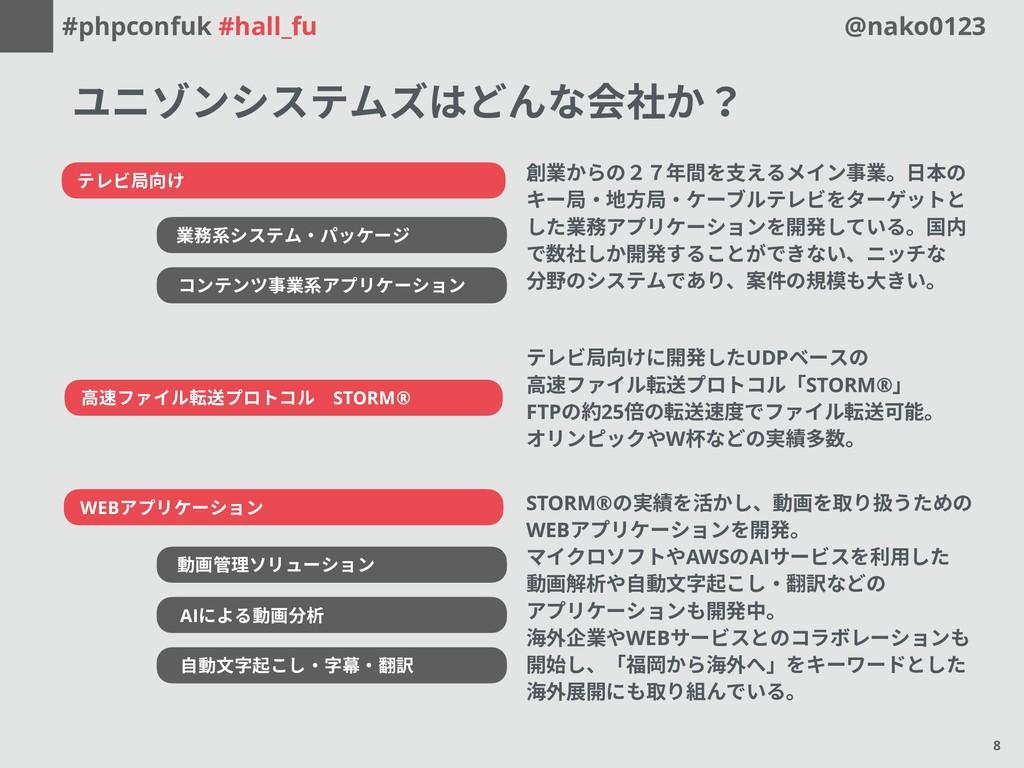 #phpconfuk #hall_fu @nako0123 テレビ局向け 業務系システム・パッ...