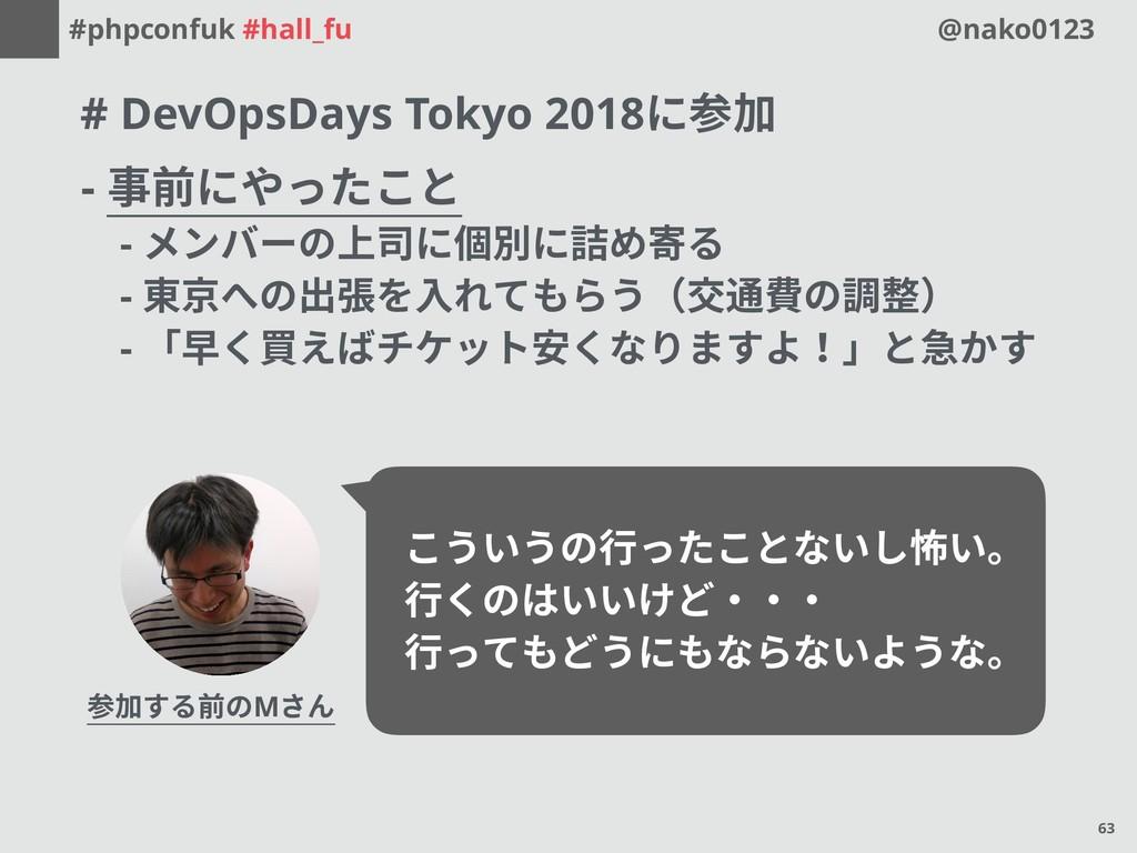 #phpconfuk #hall_fu @nako0123 # DevOpsDays Toky...