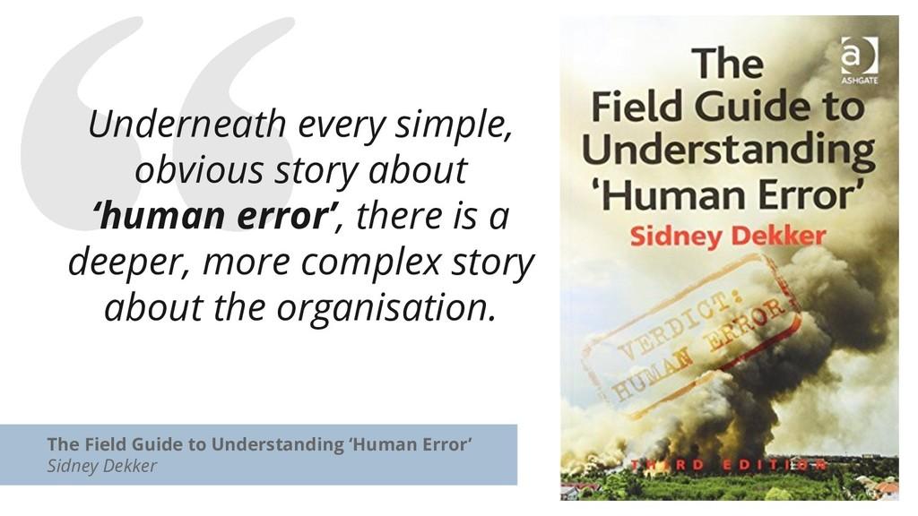 The Field Guide to Understanding 'Human Error' ...
