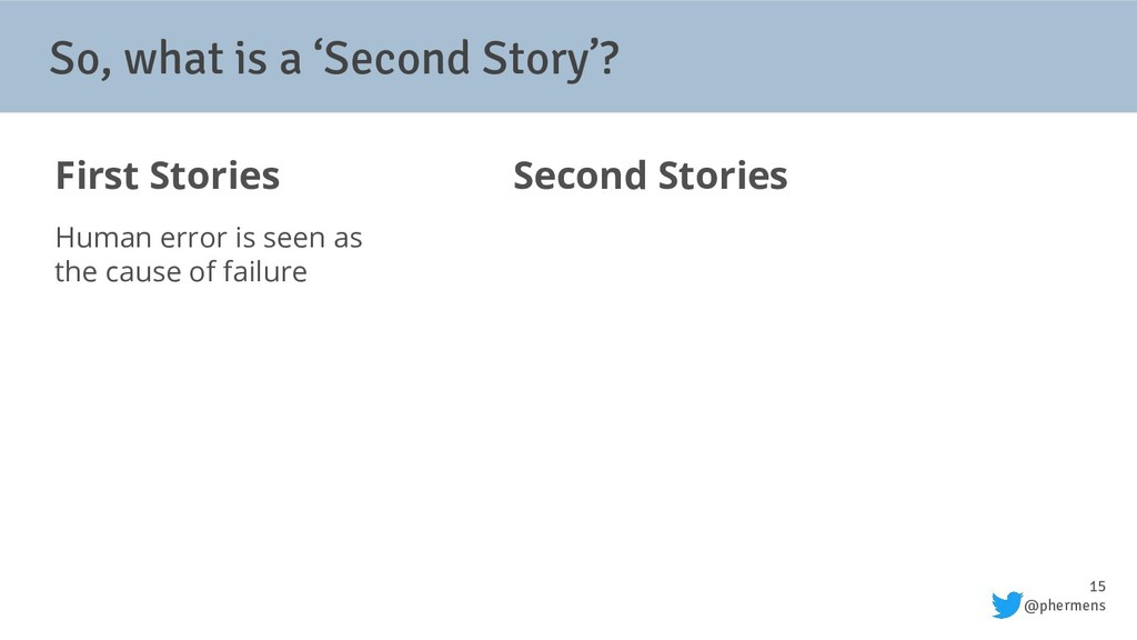 15 @phermens So, what is a 'Second Story'? Firs...