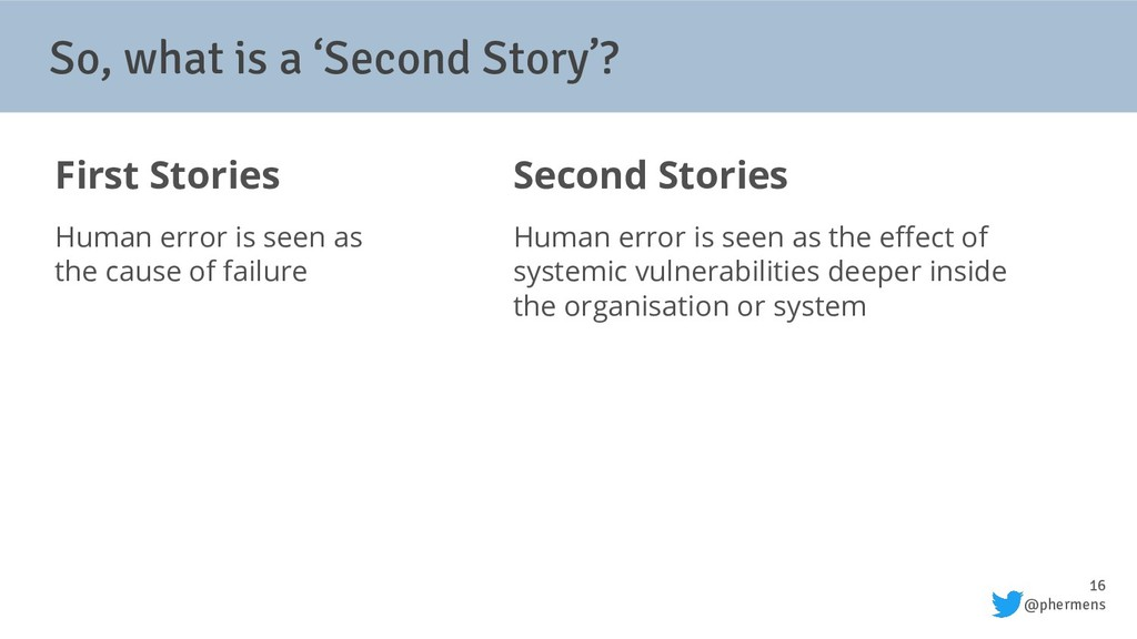 16 @phermens So, what is a 'Second Story'? Firs...