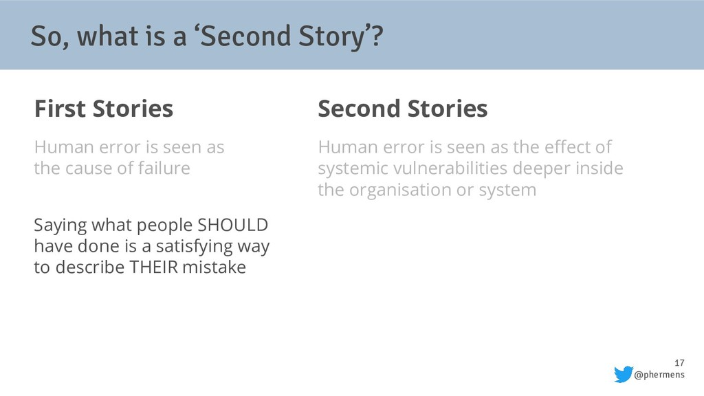 17 @phermens So, what is a 'Second Story'? Firs...