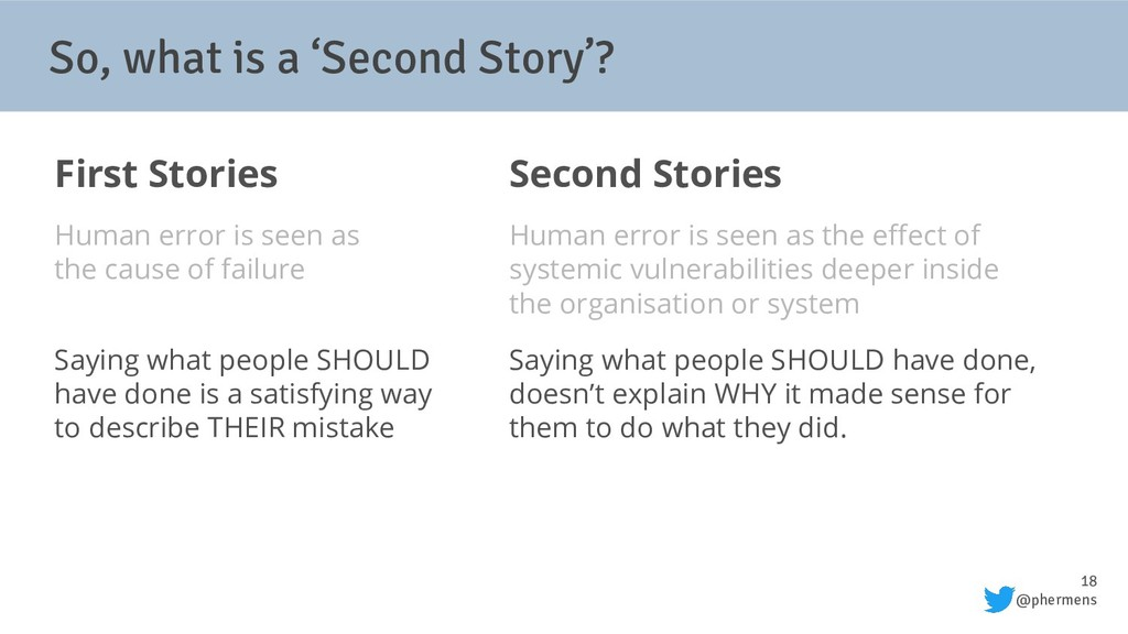 18 @phermens So, what is a 'Second Story'? Firs...