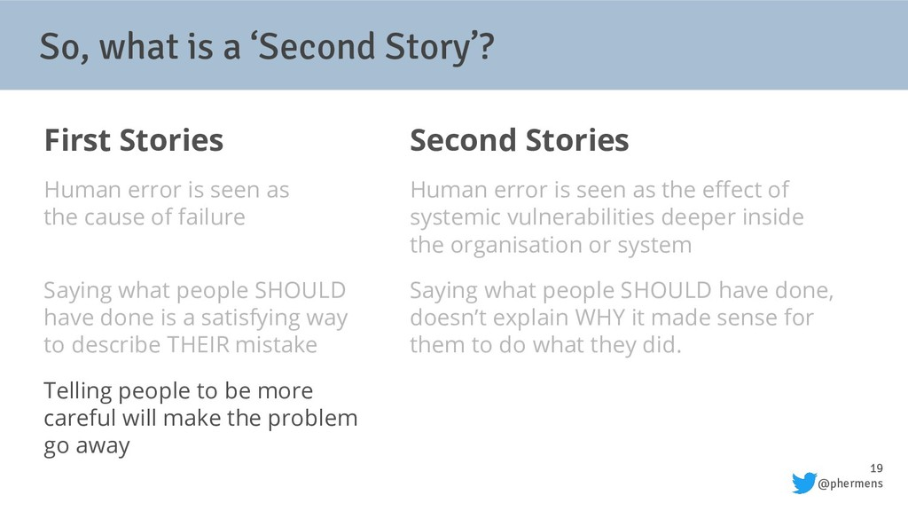 19 @phermens So, what is a 'Second Story'? Firs...