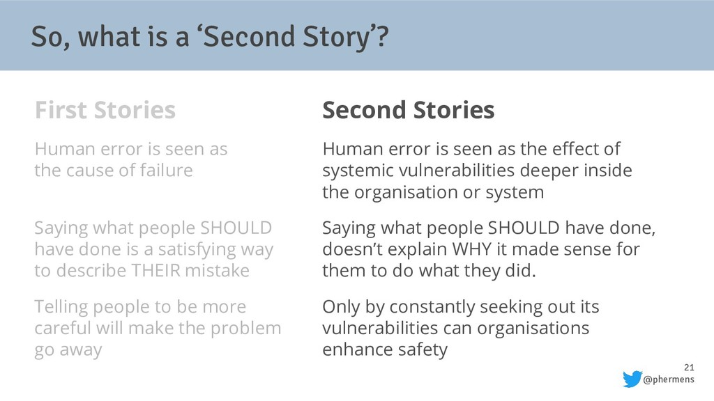 21 @phermens So, what is a 'Second Story'? Firs...