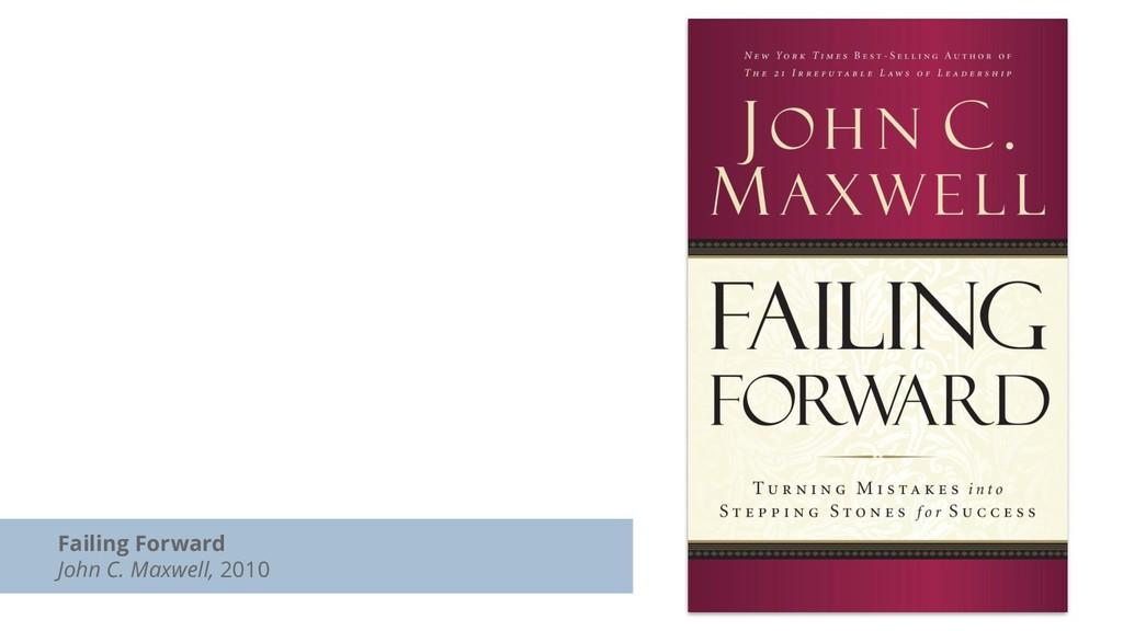 Failing Forward John C. Maxwell, 2010