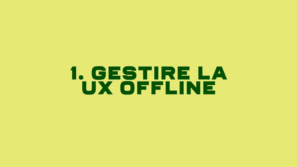 1. Gestire LA Ux Offline