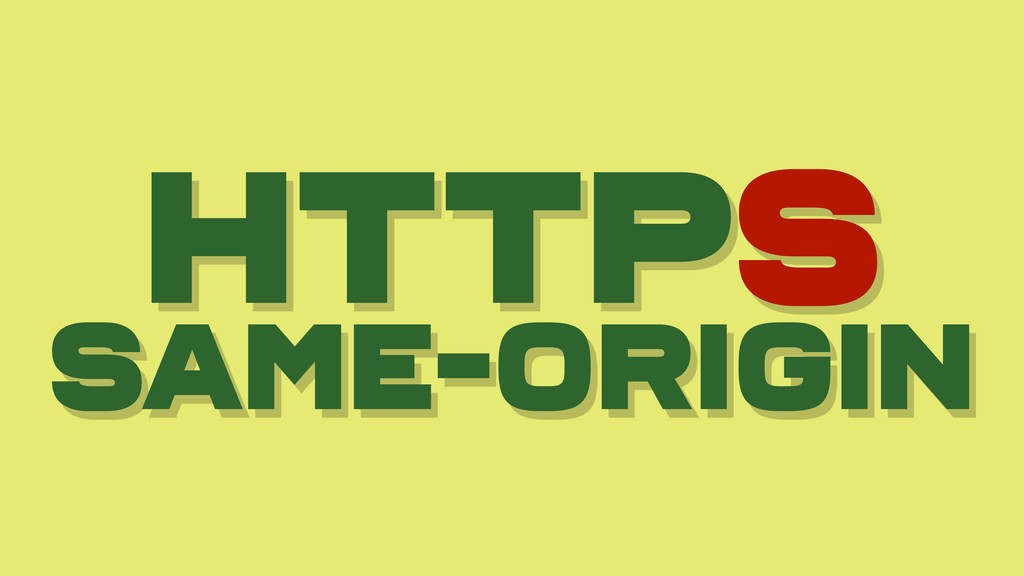 HTTPS Same-origin