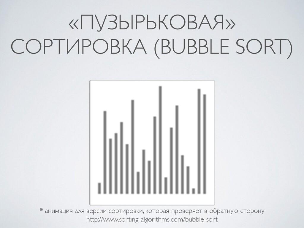 «ПУЗЫРЬКОВАЯ» СОРТИРОВКА (BUBBLE SORT) * анимац...