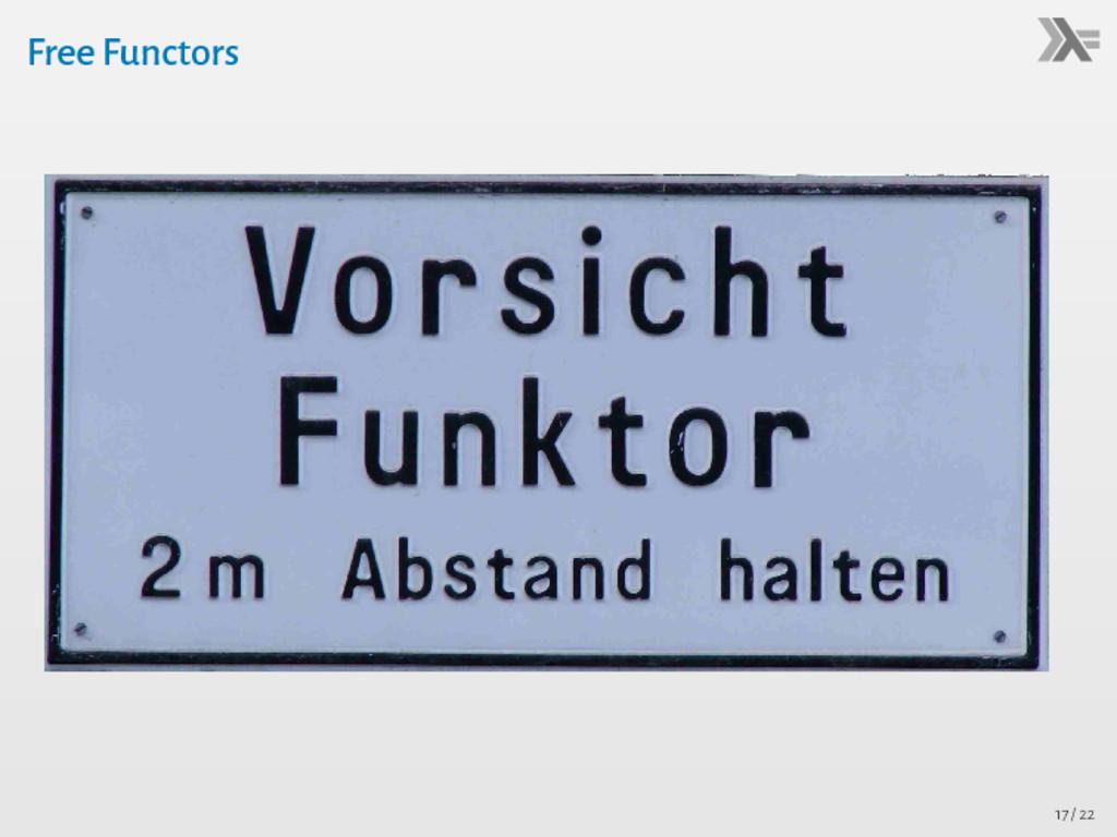 Free Functors Functor f class Functor f where -...