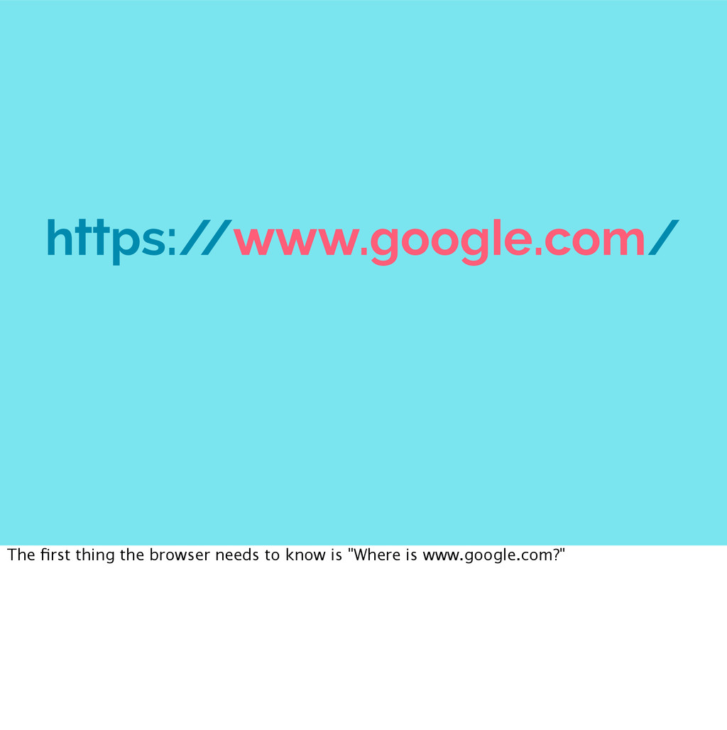 https:/ /www.google.com/ The first thing the bro...