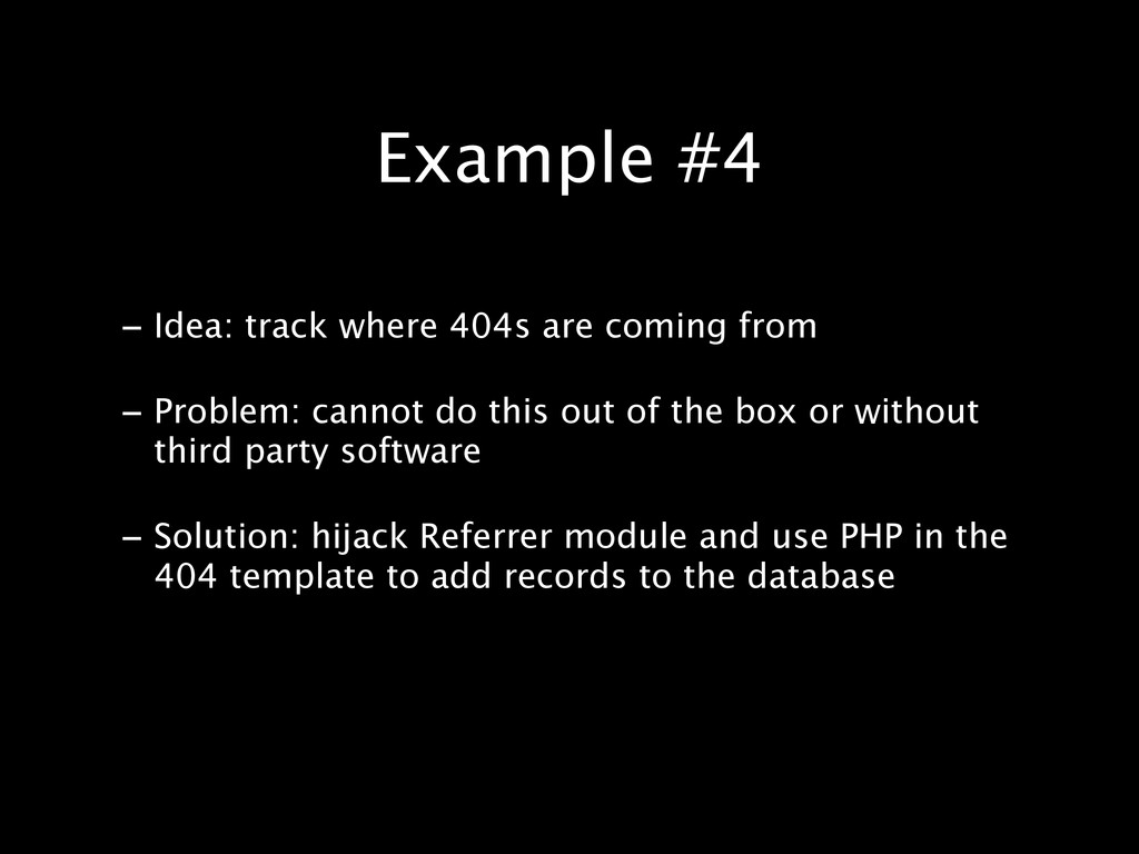 - Idea: track where 404s are coming from - Prob...