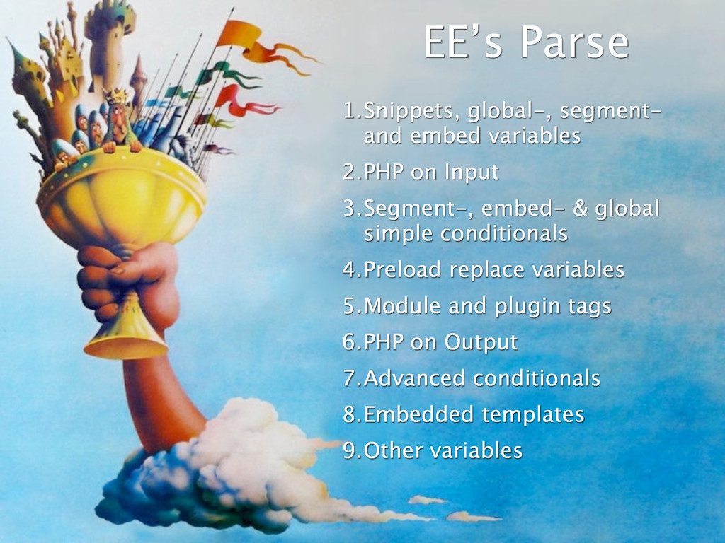 EE's Parse 1.Snippets, global-, segment- and em...