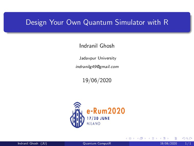 Design Your Own Quantum Simulator with R Indran...