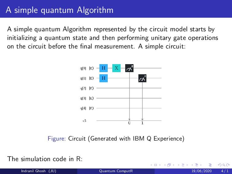 A simple quantum Algorithm A simple quantum Alg...