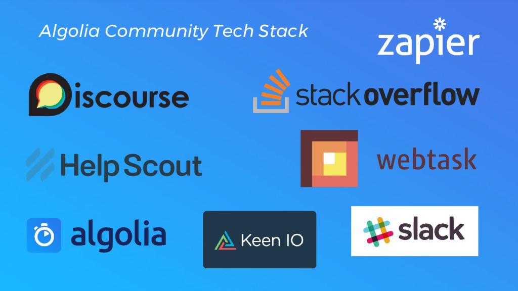 Algolia Community Tech Stack