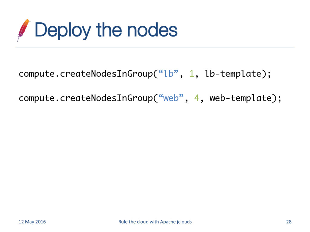 Deploy the nodes