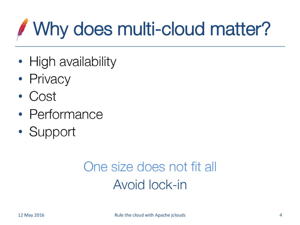 Why does multi-cloud matter? • High availabil...