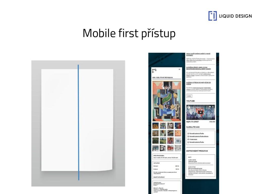 Mobile first přístup