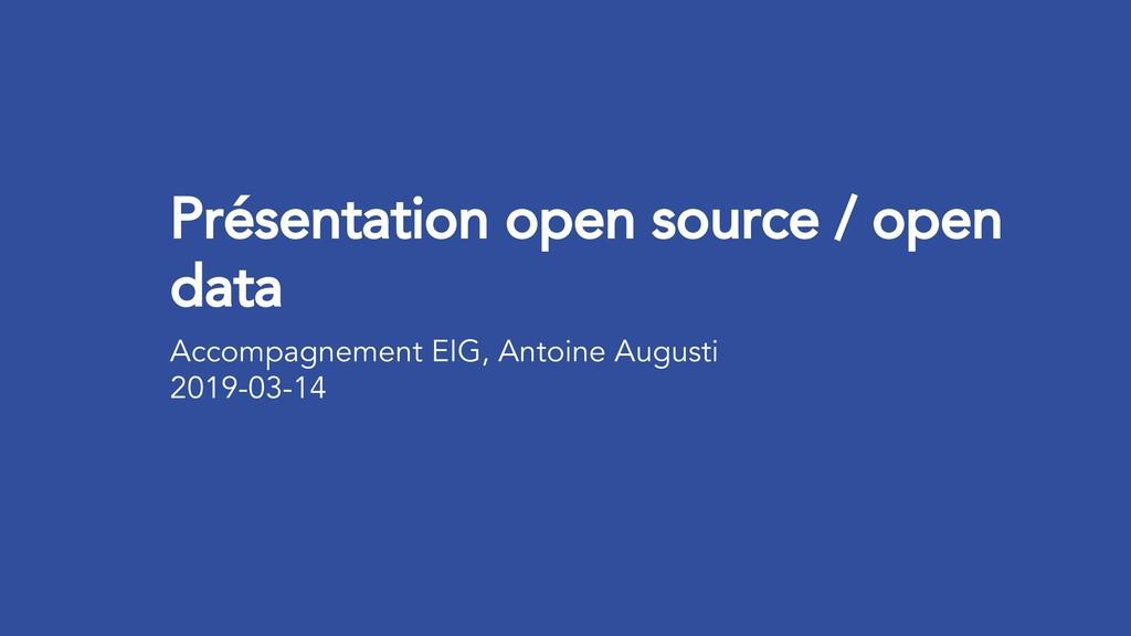 Présentation open source / open data Accompagne...