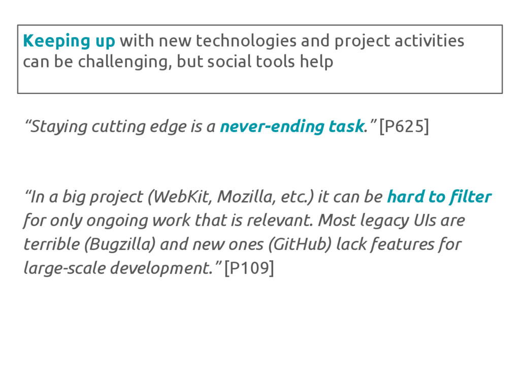 """Staying cutting edge is a never-ending task."" ..."