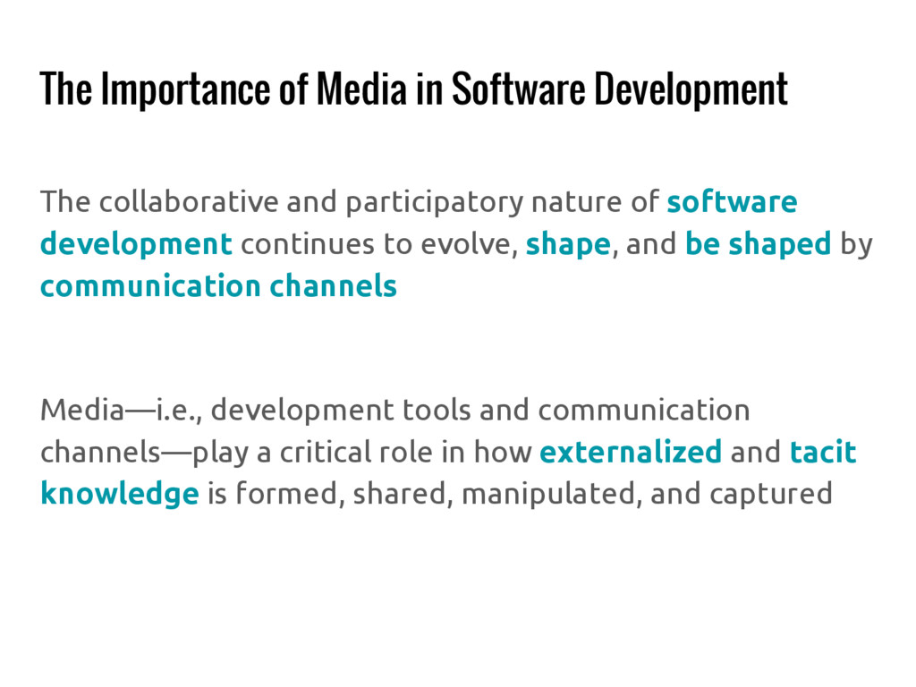 The Importance of Media in Software Development...