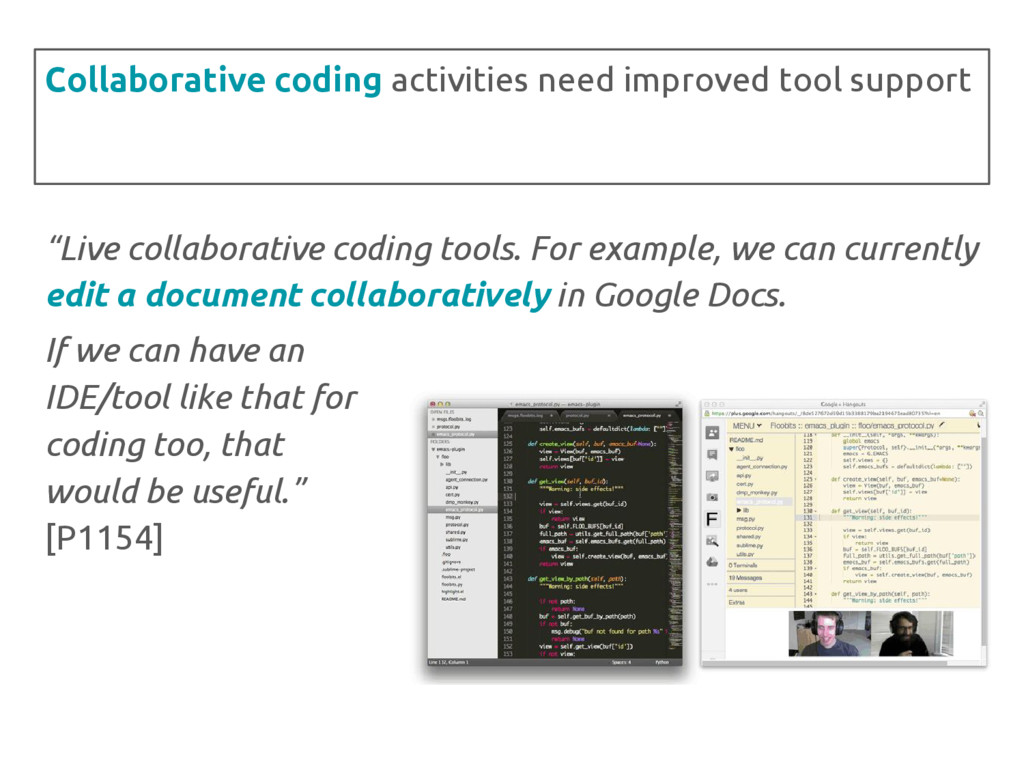 """Live collaborative coding tools. For example, ..."