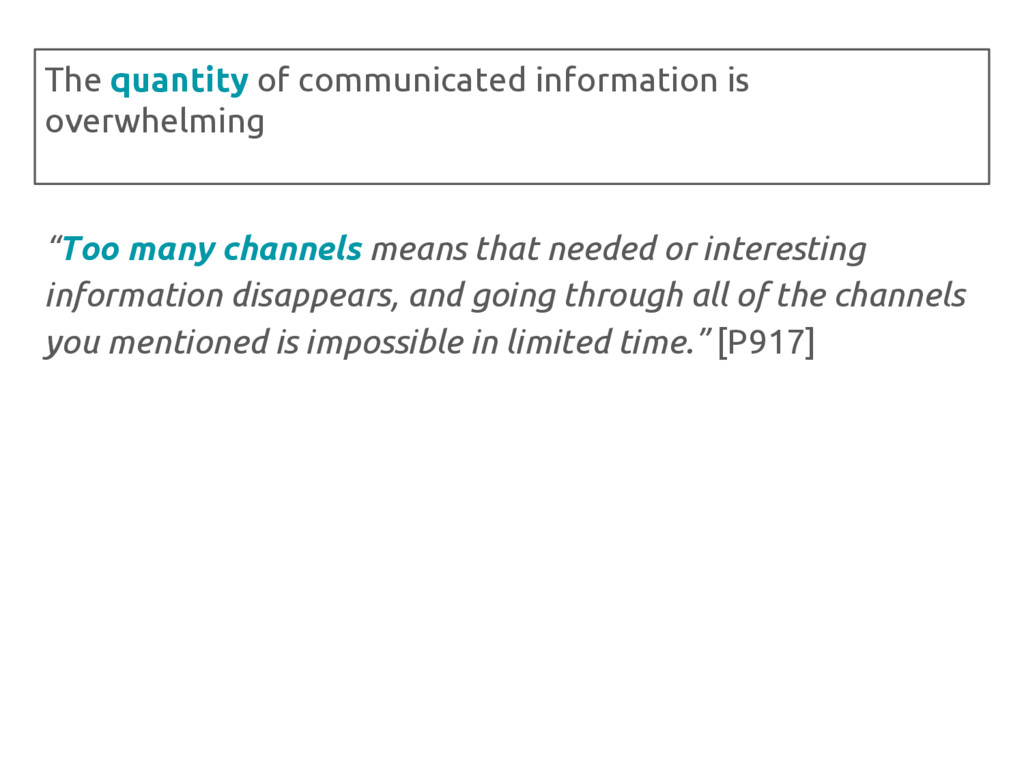 """Too many channels means that needed or interes..."