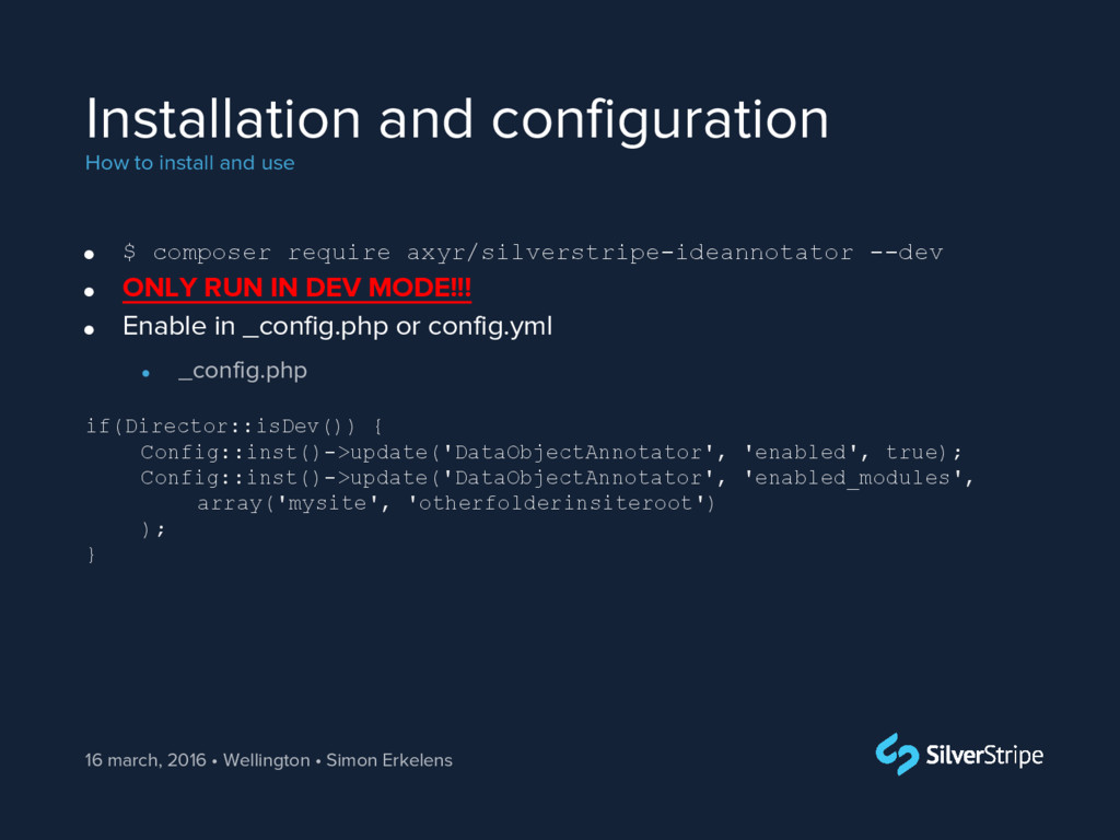 Installation and configuration How to install a...