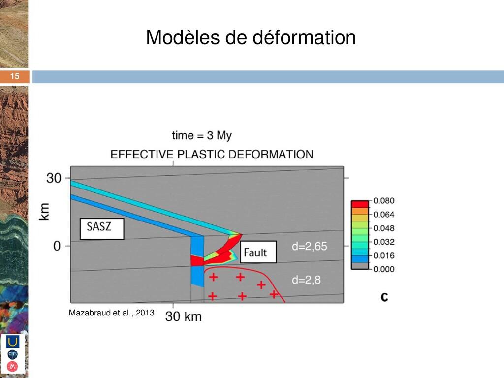 15 Modèles de déformation Mazabraud et al., 2013