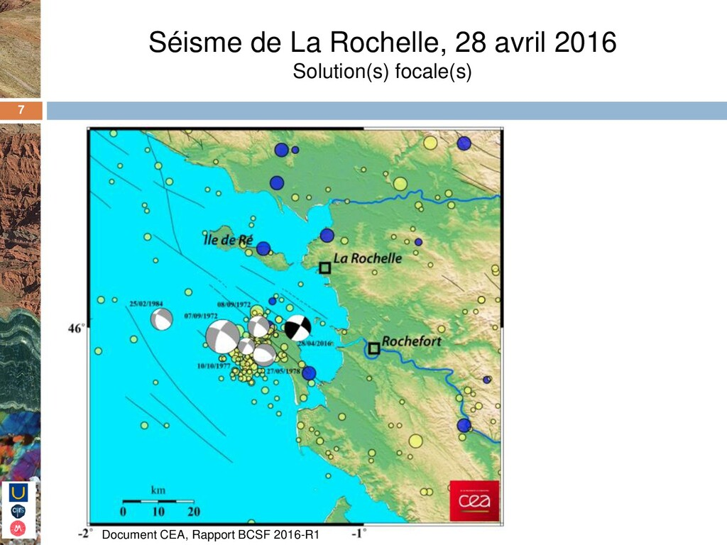 7 Séisme de La Rochelle, 28 avril 2016 Solution...