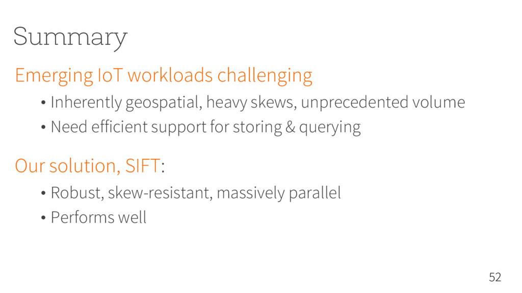 Summary Emerging IoT workloads challenging • In...