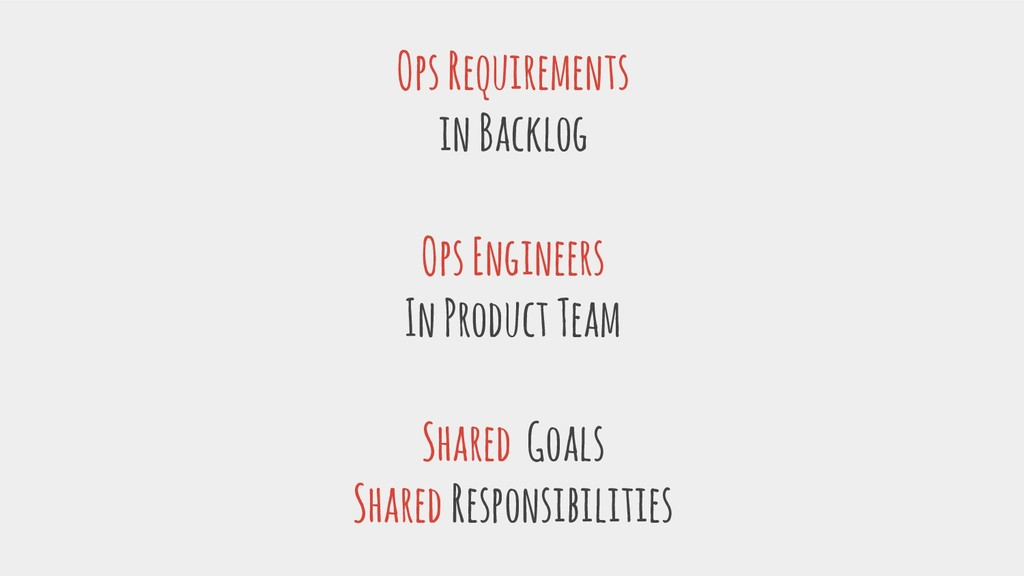 Ops Requirements in Backlog Ops Engineers In Pr...