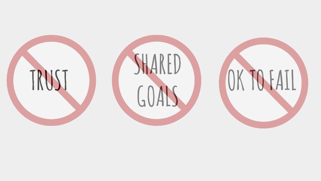 TRUST OK TO FAIL SHARED GOALS
