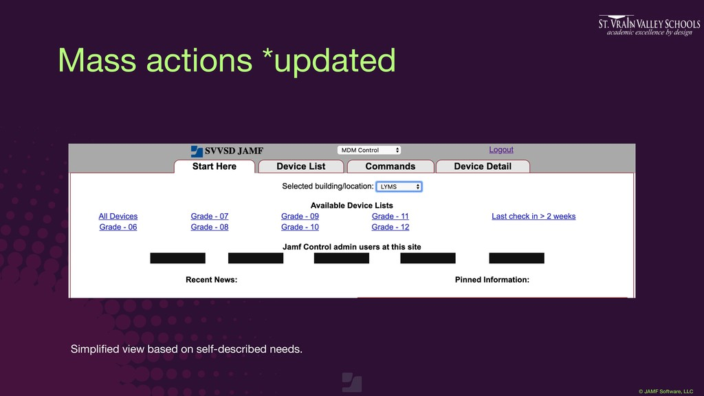 © JAMF Software, LLC Mass actions *updated Simp...
