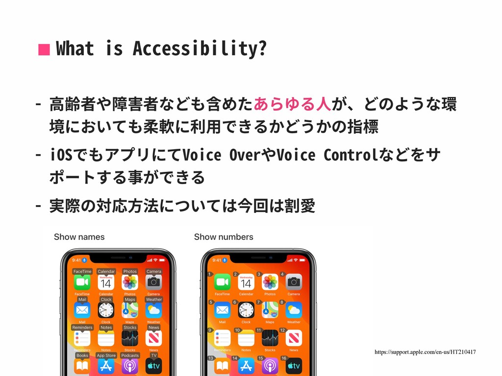 What is Accessibility? - ⾼齢者や障害者なども含めたあらゆる⼈が、どの...