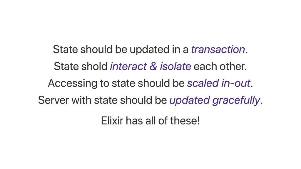 State should be updated in a transaction. State...