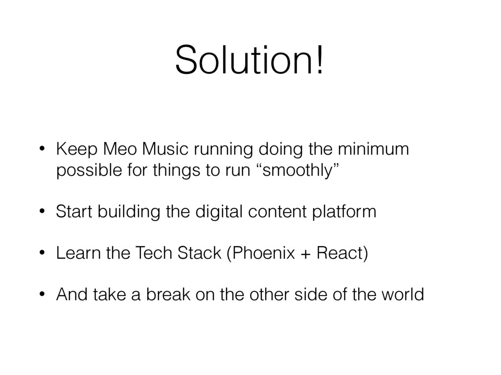 Solution! • Keep Meo Music running doing the mi...