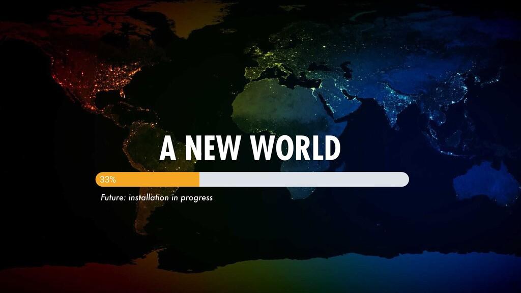 212 A NEW WORLD 33% Future: installation in pro...