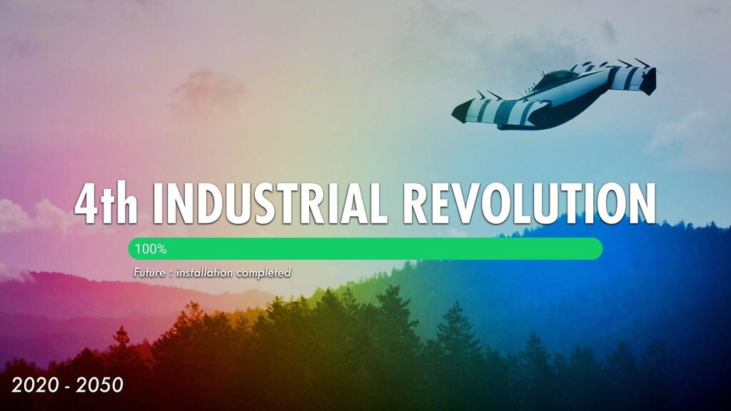 4th INDUSTRIAL REVOLUTION 2020 - 2050 100% Futu...
