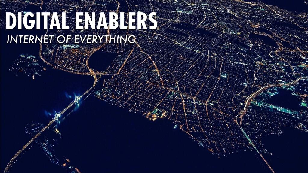 DIGITAL ENABLERS INTERNET OF EVERYTHING