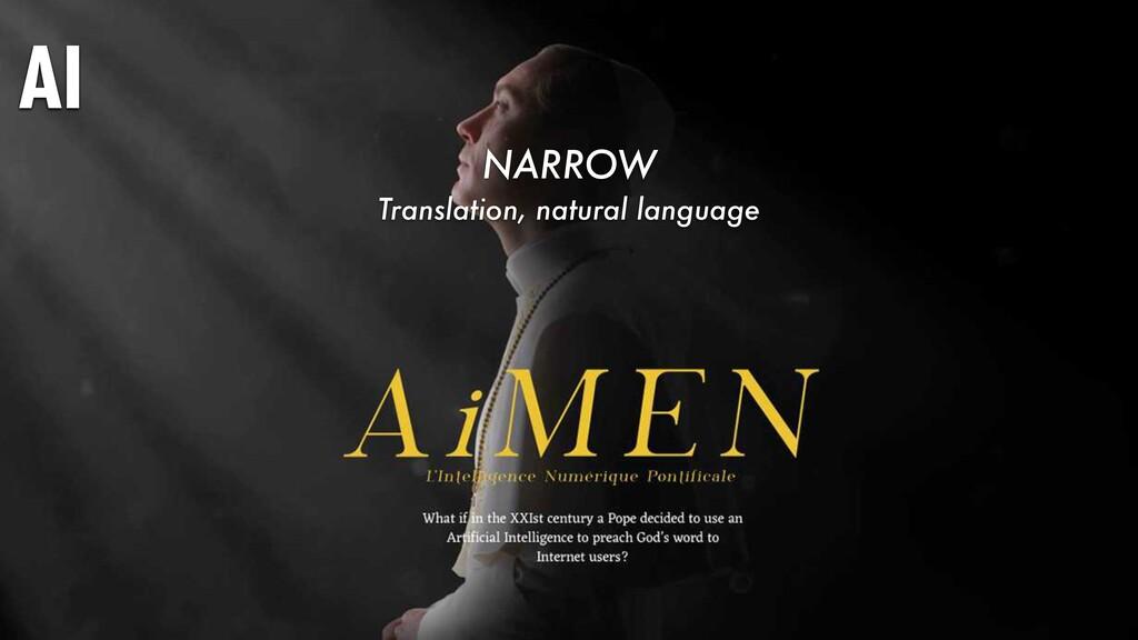 AI NARROW Translation, natural language