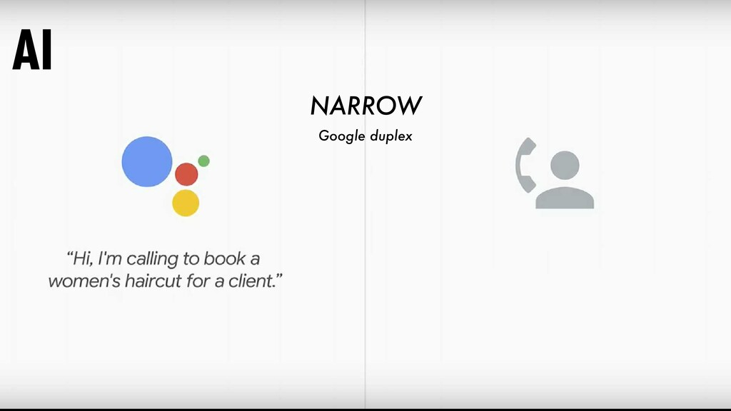 Google duplex AI NARROW