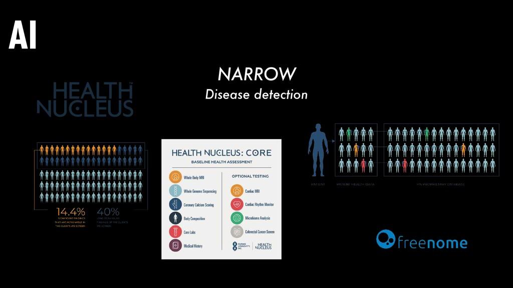 AI NARROW Disease detection