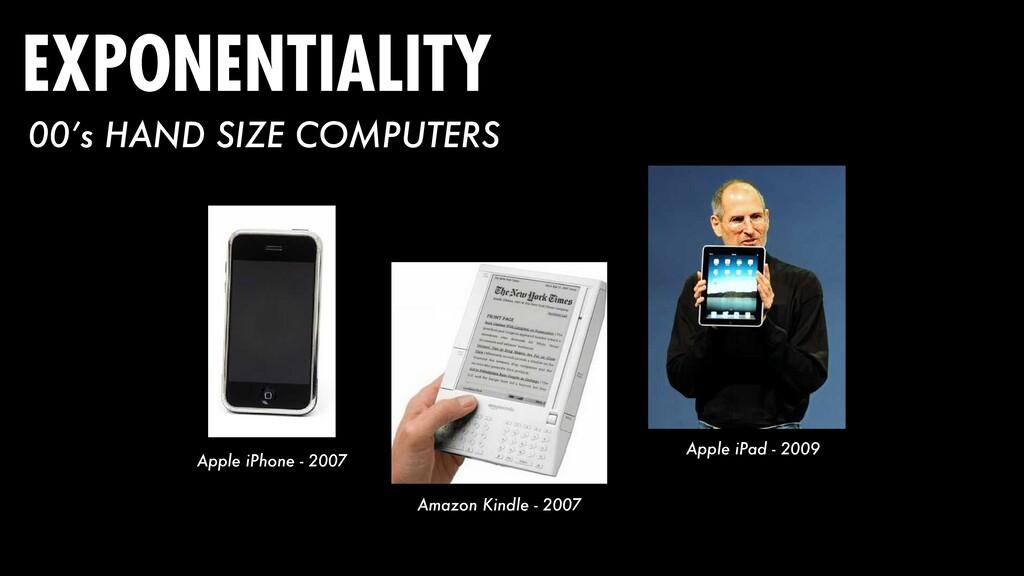 Apple iPhone - 2007 Amazon Kindle - 2007 Apple ...