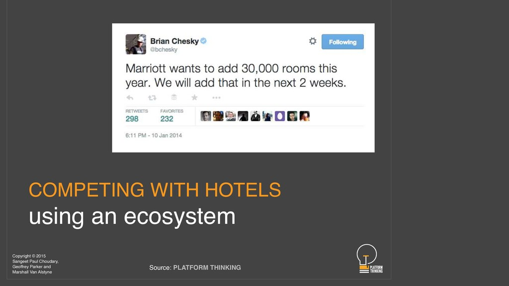 COMPETING WITH HOTELS using an ecosystem Source...