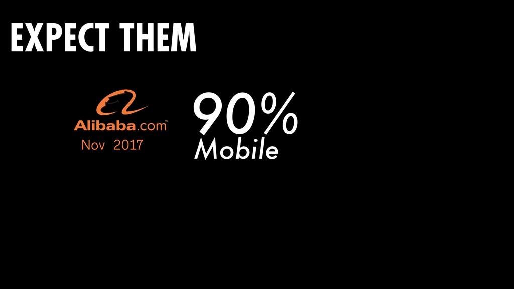 90% Nov 2017 Mobile EXPECT THEM