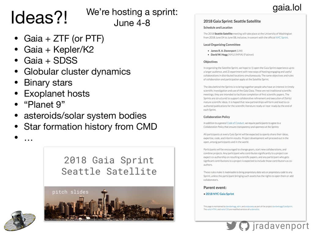 Ideas?! gaia.lol We're hosting a sprint:  June ...