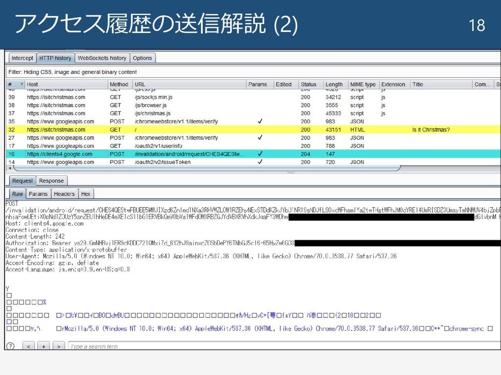 アクセス履歴の送信解説 (2) 18